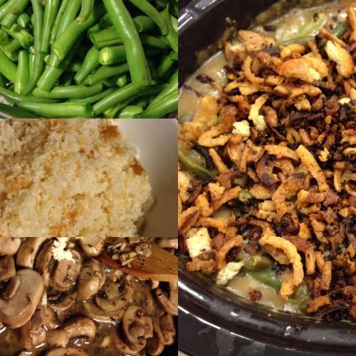 Gluten-Free, Vegan Green Bean Casserole in the Crockpot