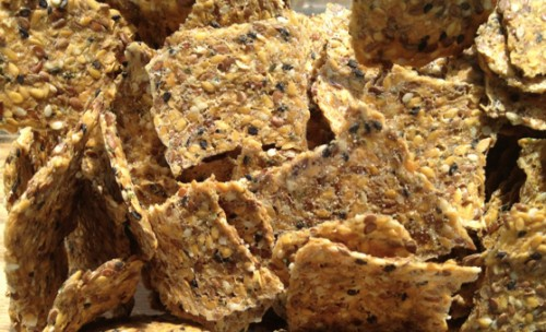 best easy only flaxseed raw crackers
