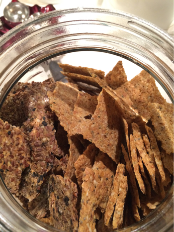 close up raw crackers