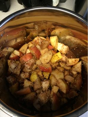 fruit crisp or cobbler in the instant pot