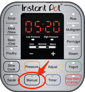 instant pot manual button
