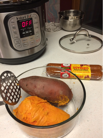 Sweet Potato Soyrizo (Vegan Chorizo) Casserole in the Instant Pot