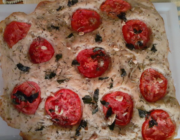 Take a Trip to Italy With Our Vegan, Gluten-Free Tomato and Garlic Focaccia!
