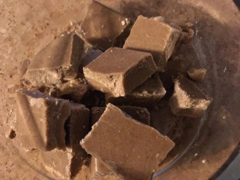 Gluten-Free Vegan Delicious Protein Candy Squares fat bombs