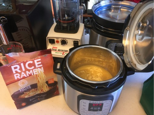 Ridiculously Easy Vegan, Gluten Free Ramen Soup in the Instant Pot