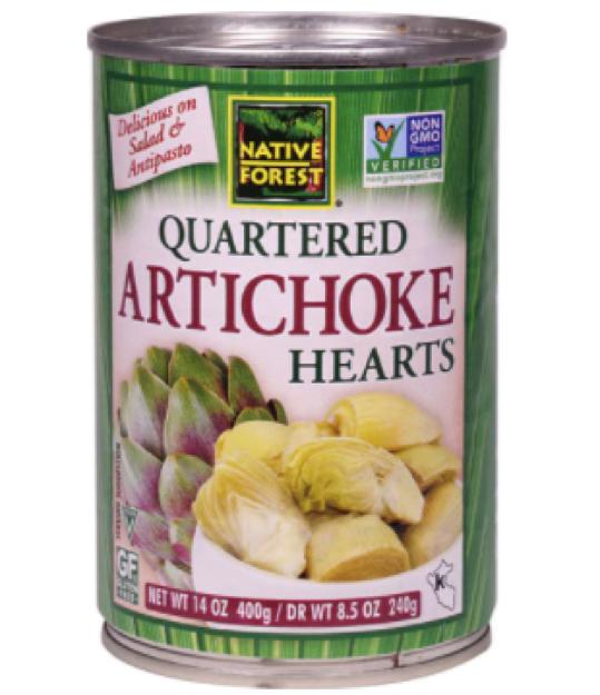 canned artichoke hearts