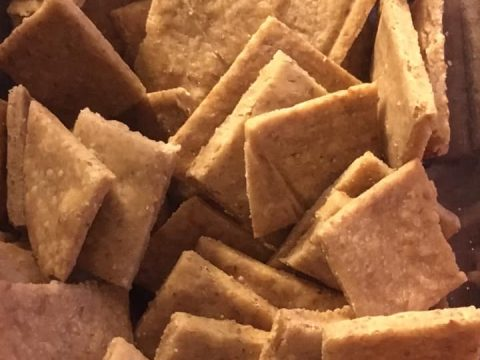 vegan gluten-free lectin-free casava crackers
