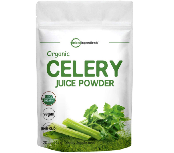 celery juice powder how much equals one bunch