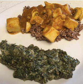 chickpea tofu mushroom curry