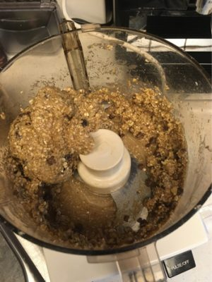 cookie dough ball in food processor