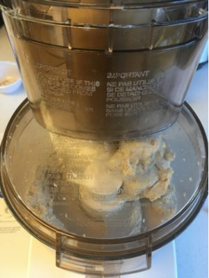 dough ball in food processor