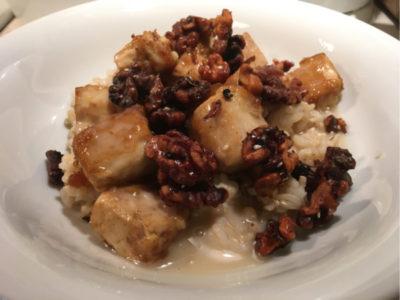 gluten-free vegan chinese honey walnut tofu