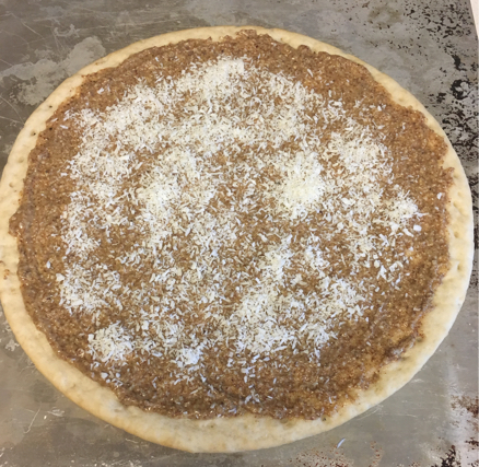 gluten free vegan dessert pizza almond butter coconut