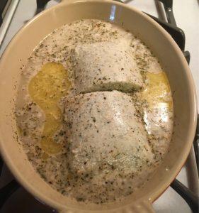 gluten-free vegan poached fish