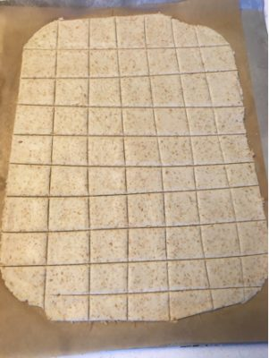 homemade vegan gluten-free cassava crackers