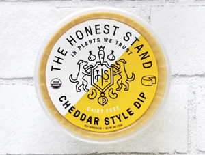 honest stand vegan plant based queso cheddar