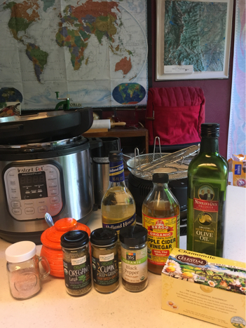 instant pot vegan cuban black bean ingredients