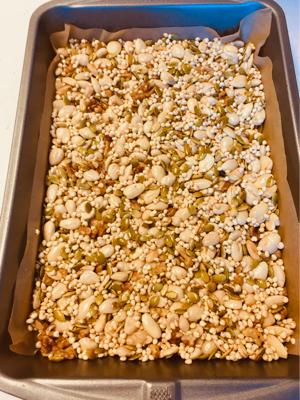 kinder nut bars ready to bake