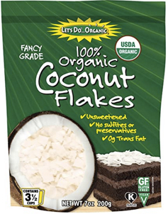 lets do organic coconut flakes