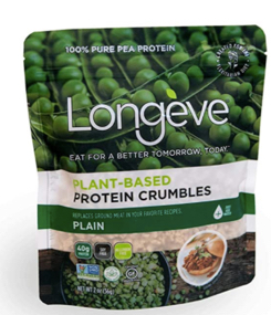 longeve plant based protein crumbles