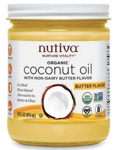 nutiva buttery butter flavor coconut oil