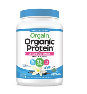 orgain organic protein and superfoods vanilla bean