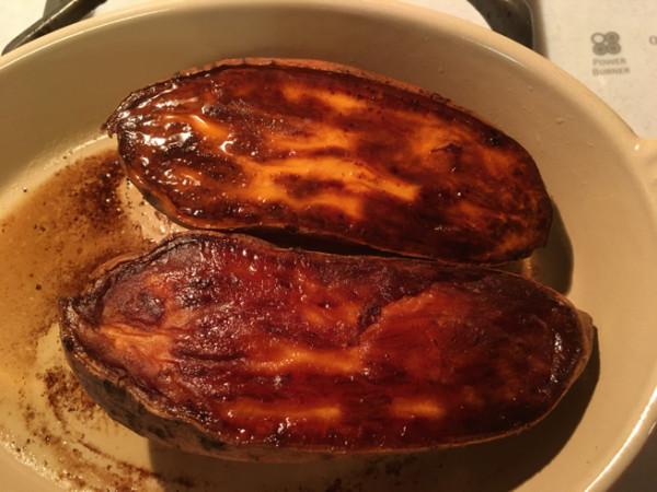 oven carmalized vegan sweet potatoes