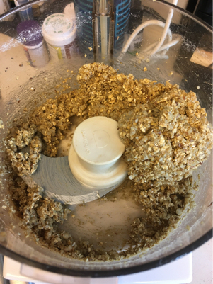 sausage mixture dough forms a ball in food processor