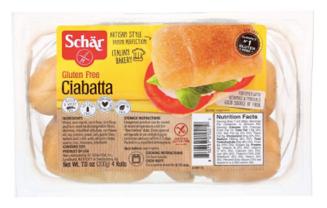 schar gluten-free vegan ciabatta rolls