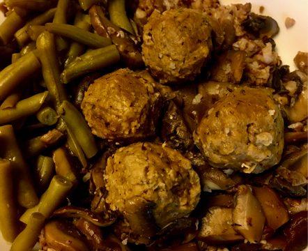 sous vide meatballs vegan