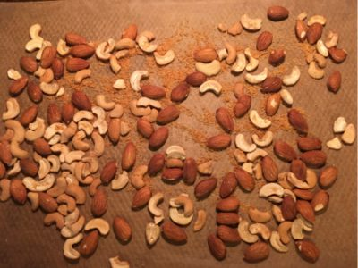 toasted almonds cashews nuts coconut
