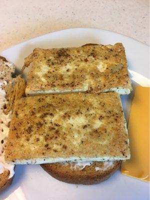 vegan fried egg sandwiches