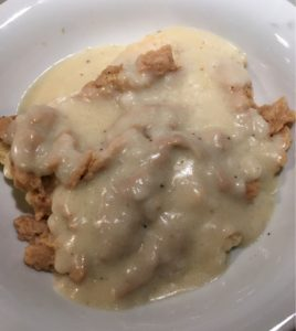 vegan gluten-free biscuits and gravy with vegan chickenvegan gluten-free biscuits and gravy with vegan chicken