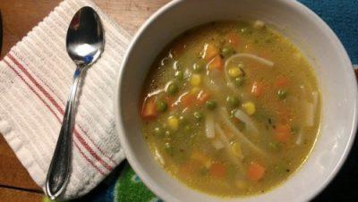 vegan gluten-free chicken noodle soup