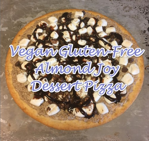 Vegan Gluten-Free Almond Joy Dessert Pizza