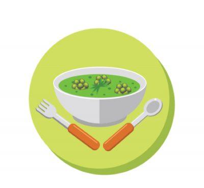 vegan split pea soup drawing